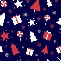 adornos navideños sin fisuras repetir vector patrón