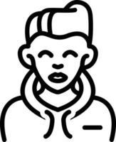 Line icon for boy vector