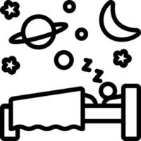 Line icon for sleep vector
