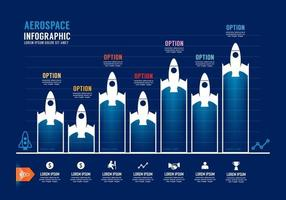 Aerospace Business resources infographic. Graph diagram. vector