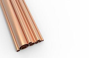 Fondo de patrón de tubos de cobre foto