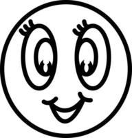 icono de línea para anime vector