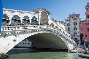 Venice,Italy 2019- The Rialto Bridge in Ponte di Rialto, Italy photo