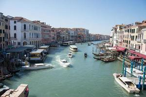 Venice, Italy 2019- Grand Canal in March with panoramic view photo