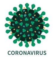 External close up structure of coronavirus COVID19 vector