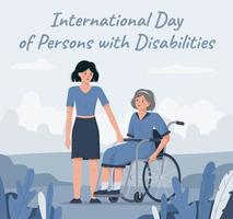 3 December is world disabled persons day vector