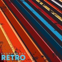 Vintage design poster with retro grunge texture and colored lines. vector