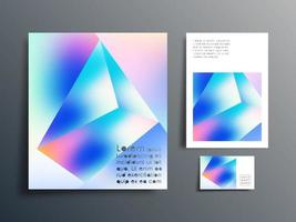 Gradient design for cover, business card, abstract background, etc. vector