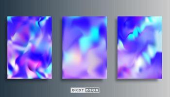 Gradient texture design set for brochure, flyer cover, poster, etc. vector
