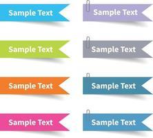 label set with full color vector design element, illustrator