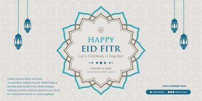 horizontal eid banner template vector