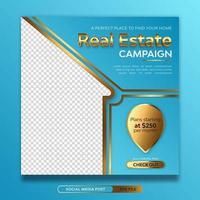 Real estate campaign social media banner template vector