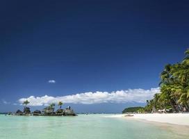 Station 2 beach main area of Boracay tropical paradise island Philippines photo