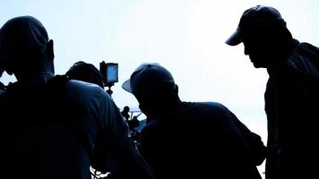 Video production behind the scenes. Making of TV commercial movie photo
