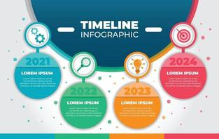 Timeline Infographic Background Template vector