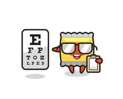 Illustration of snack mascot as an ophthalmology vector