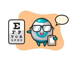 Illustration of rocket mascot as an ophthalmology vector