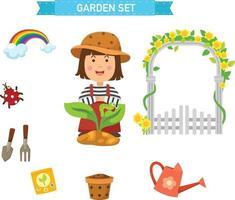 garden set vector illustration