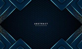 3d abstract light blue hexagon vector luxury background