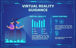 Virtual Reality Guidance Infographic vector