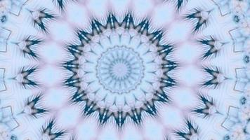 Light Teal and Forest Green Tree Accents Kaleidoscopic Background video