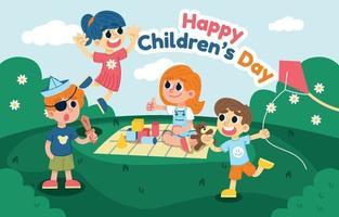 Happy Children's Day Background vector