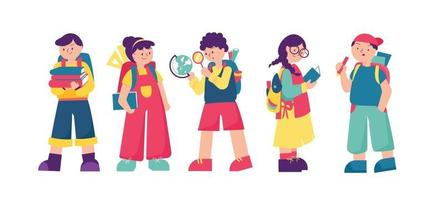 Students Going Back to School vector