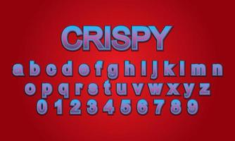 text effect crispy title style vector
