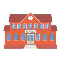 School building. Education concept. Vector flat illustration.