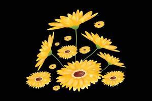 flower ornament illustration vector