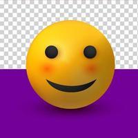smile emoji 3d of social media reaction emoticon vector