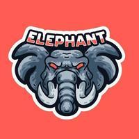 Elephant King Illustration Mascots t-shirt vintage design vector