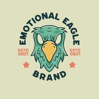 Eagle Illustration Retro style For t-shirt vector