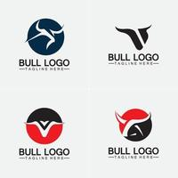 Bull logo and symbols vector template icons app