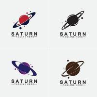 Planeta Saturno logo diseño ilustración vectorial vector