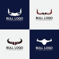 Bull horn logo and symbol template icons app vector