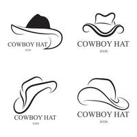 cowboy hat logo icon vector design template