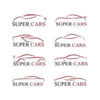 Car silhouette logo Vector template icons