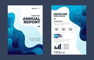 Annual Report Business Template vector