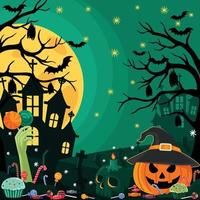 Welcome to Happy Halloween Party Trick or Treat vector