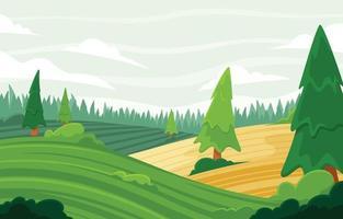 Morning Landscape Nature Background vector