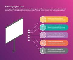 presentation board for presenting infographic template vector