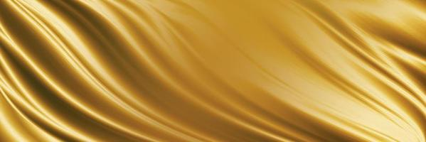 Gold fabric texture background 3D illustration photo