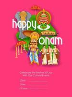 Onam traditional festival background  of Kerala, South India vector