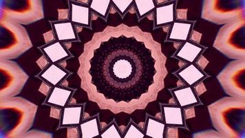 Strawberry Pink and Brown with White Rose Accents Kaleidoscope Background video