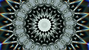 étoile émeraude claire et fond de kaléidoscope d'anneau video