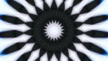 Black Star and White Kaleidoscope Background video