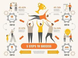 Business strategy Infographic finance success financial strategy vector