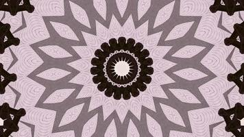 Pale Rose Pink with Gradient Black and Grey Kaleidoscope Background video