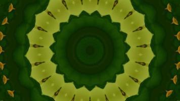 Shots Yellow and Green Star Kaleidoscope Background video